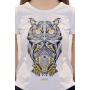 T-shirt HIPSTER - Femme - 185g - Coton 100% BIO- BLANC