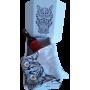 """Coffret Vin Hipster """"Etiquette rouge"""" + T-shirt 185g Coton 100% BIO BLC OU KAKI"""