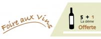 Les Chais bio : Foire aux vins - 5 + 1 offerte