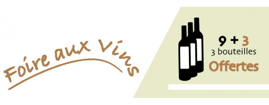 Les Chais bio : Foire aux vins - 9 + 3 offertes